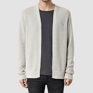 All Saints Men's Trias Cardigan Gray Size M